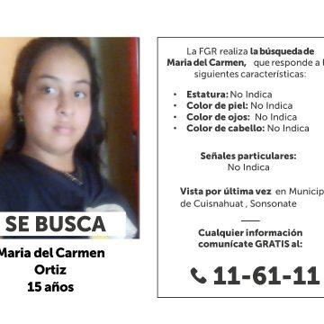 Persona desaparecida: buscan a una niña Sonsonateca de 15 años