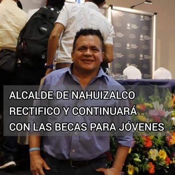 Alcalde de Nahuizalco cambió de decisión y continuará con las becas universitarias para jóvenes