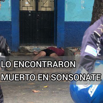 Lo encontraron muerto en el Barrio Veracruz de Sonsonate