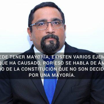 VIDEO: Magistrado Martín Martínez a diputados: el principio de la mayoría no es absoluto