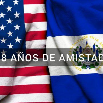 Hoy celebramos 158 años de amistad entre El Salvador y Estados Unidos