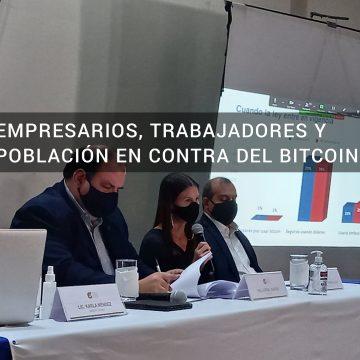 93.5% de los salvadoreños en contra del bitcoin, según sondeo de Cámara de Comercio