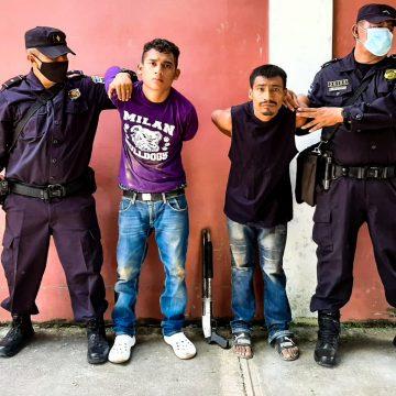 Capturan a pandilleros en Santa Ana
