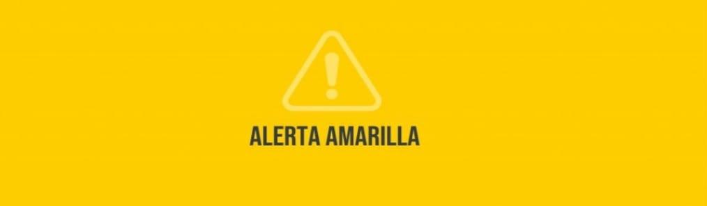 Decretan alerta amarilla en zona oriental