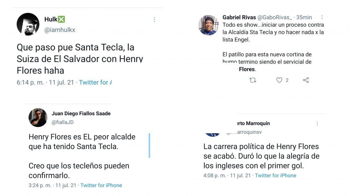 Esto opinan los Tecleños del alcalde Henry Flores