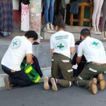 Cruz verde atendió a una persona que fue vapuleada en Ciudad Arce