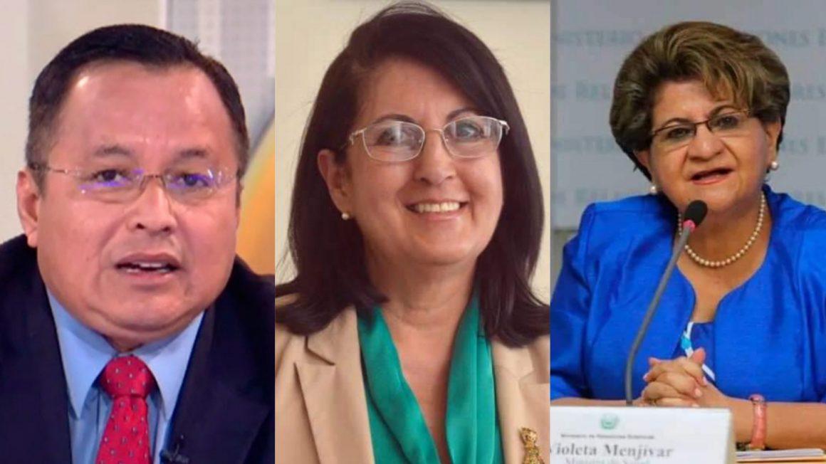Violeta Menjivar, Erlinda Handal y Calixto Mejia del FMLN fueron capturados por la PNC