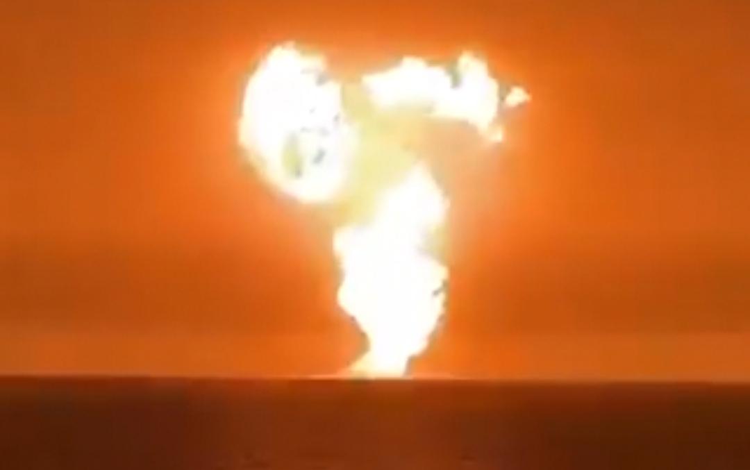 VIDEO: captan explosión de un volcán de lodo en el mar Caspio