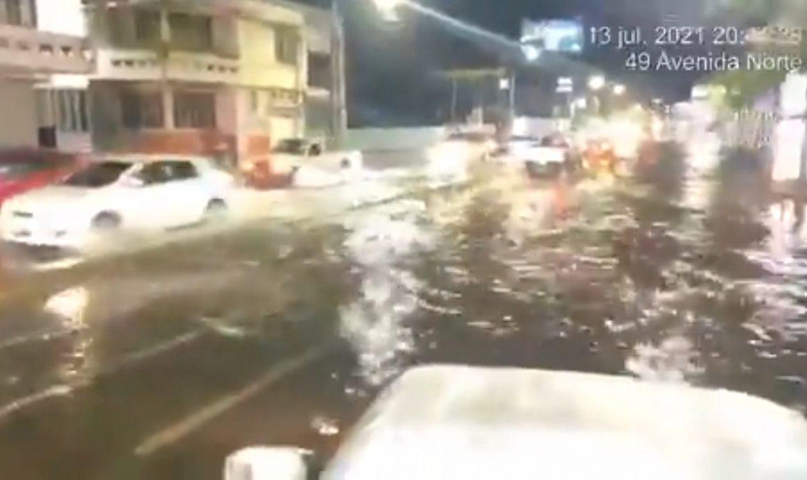 VIDEO: Así se inundaron las calles de San Salvador