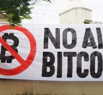 Movimiento popular pide a la Asamblea Legislativa derogar Ley Bitcoin