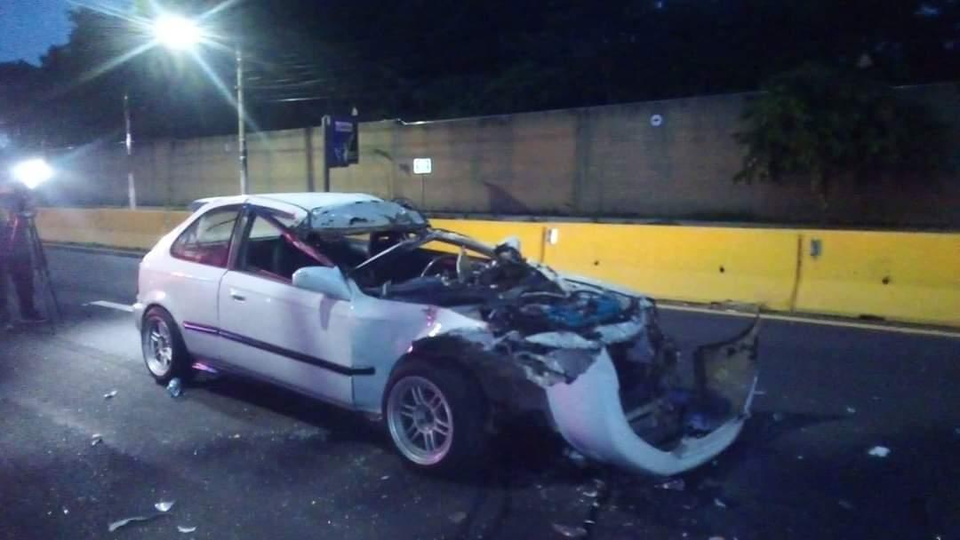 Accidente dejó tres lesionados