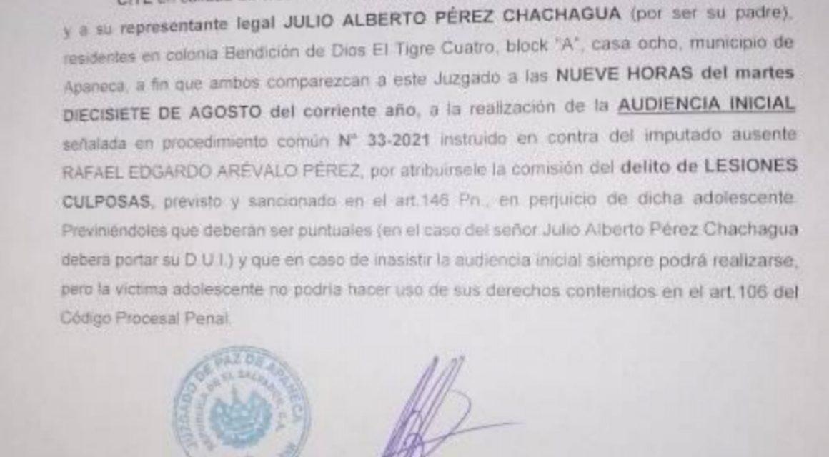 Juzgado cita a papá del alcalde de Sonsonate, Rafael Arévalo, quien fue diputado del CD/ARENA