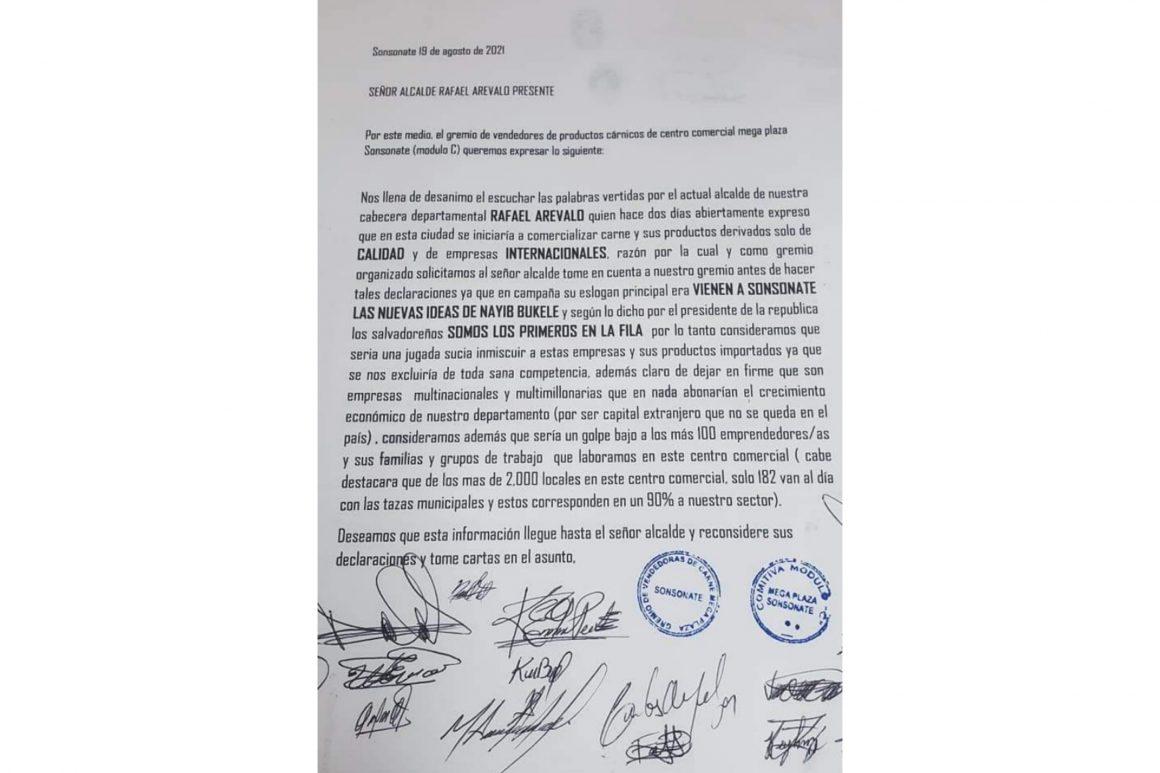 """Comerciantes de carne rechazan """"jugada sucia""""del Alcalde de Sonsonate"""